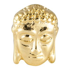 Picture of Gold Buddha Head Charm