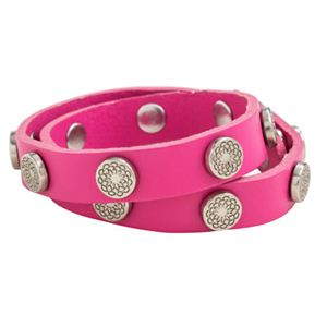 Picture of Fuchsia Leather Wrap with Silver Studs