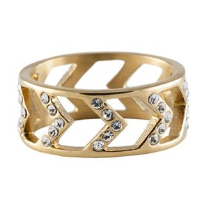 Picture of Gold Chevron Ring - Size 6